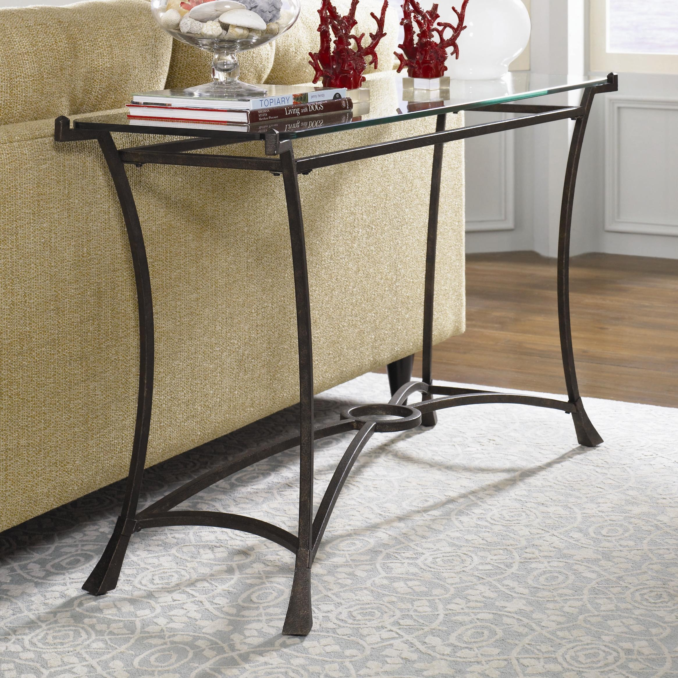 Sofa Table Glass Chrome Brass And Glass Two Tier Console Or Sofa With Chrome Sofa Tables (Image 17 of 20)