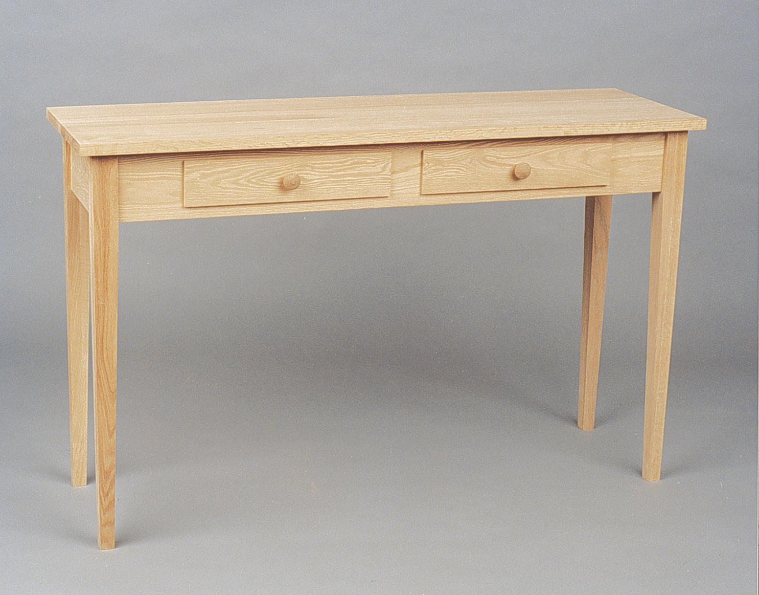 Sofa Table W/ 2 Drawers With Shaker Sofas (Image 16 of 20)