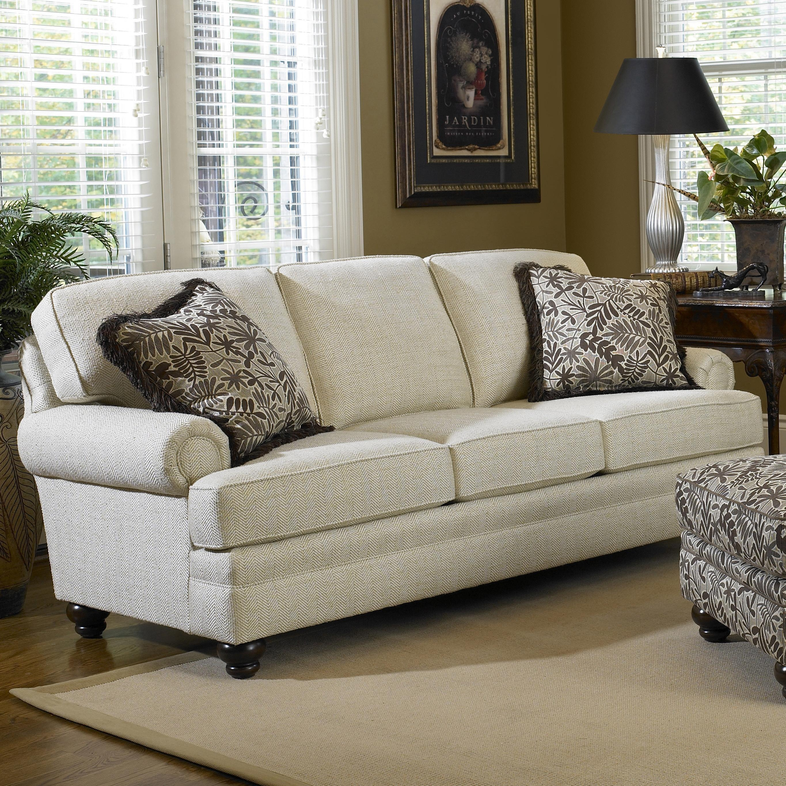 Sofa With Turned Legssmith Brothers | Wolf And Gardiner Wolf Pertaining To Smith Brothers Sofas (View 4 of 20)