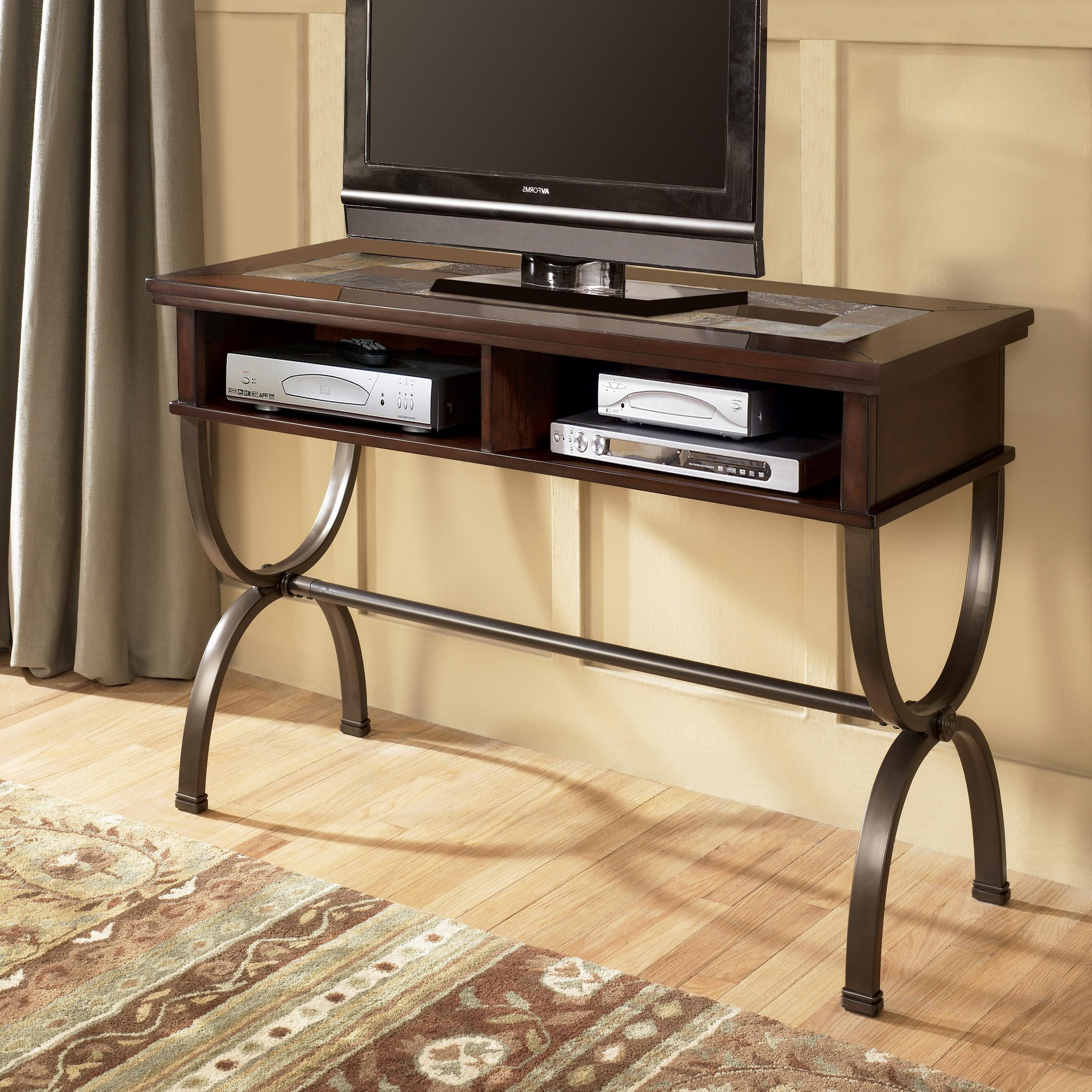Sofa/console Table With Slate Inlay And Metal Basesignature With Regard To Slate Sofa Tables (View 7 of 20)