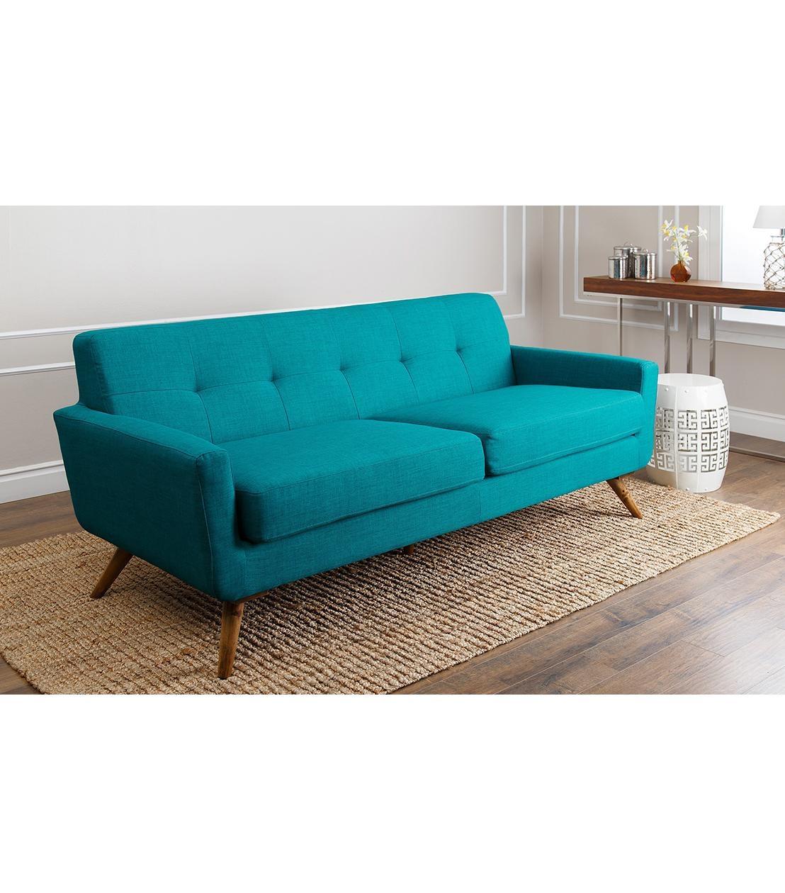 Sofas : Bradley Modern Sofa, Teal Regarding Abbyson Sofas (Image 14 of 20)