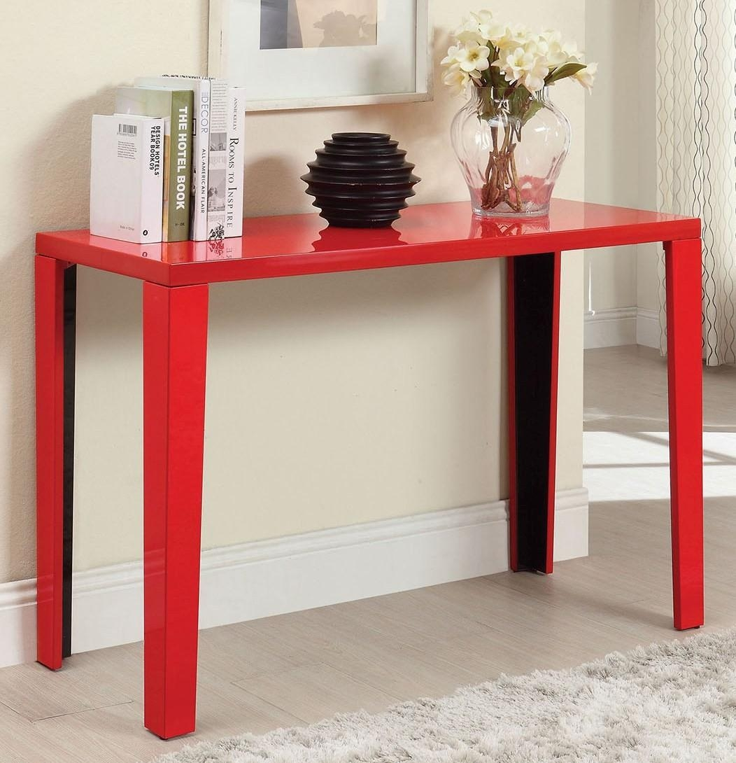 Sofas Center : 37 Fearsome Red Sofa Table Pictures Design Red Sofa In Red Sofa Tables (Image 14 of 20)