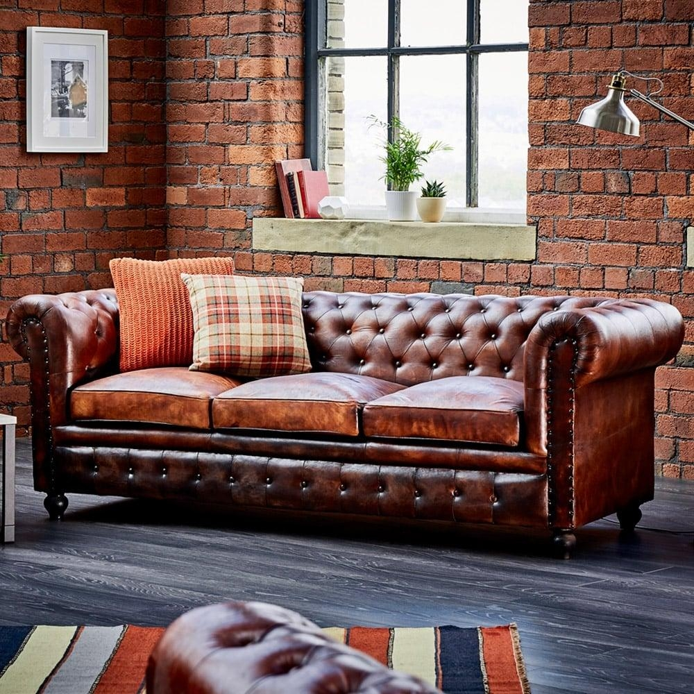 Sofas Center : 42 Outstanding Leather Chesterfield Sofa Pictures With Leather Chesterfield Sofas (Image 15 of 20)