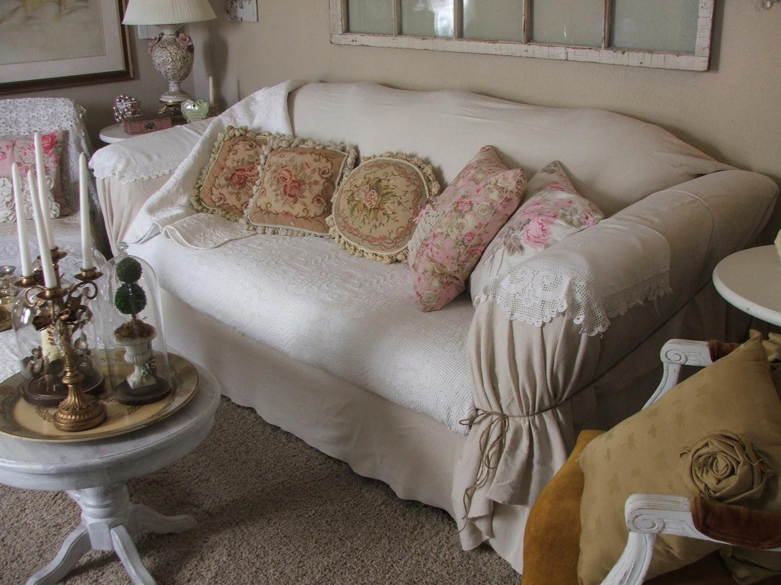 Sofas Center : 44 Fascinating Shabby Chic Slipcovers For Sofas Regarding Shabby Slipcovers (Image 17 of 20)
