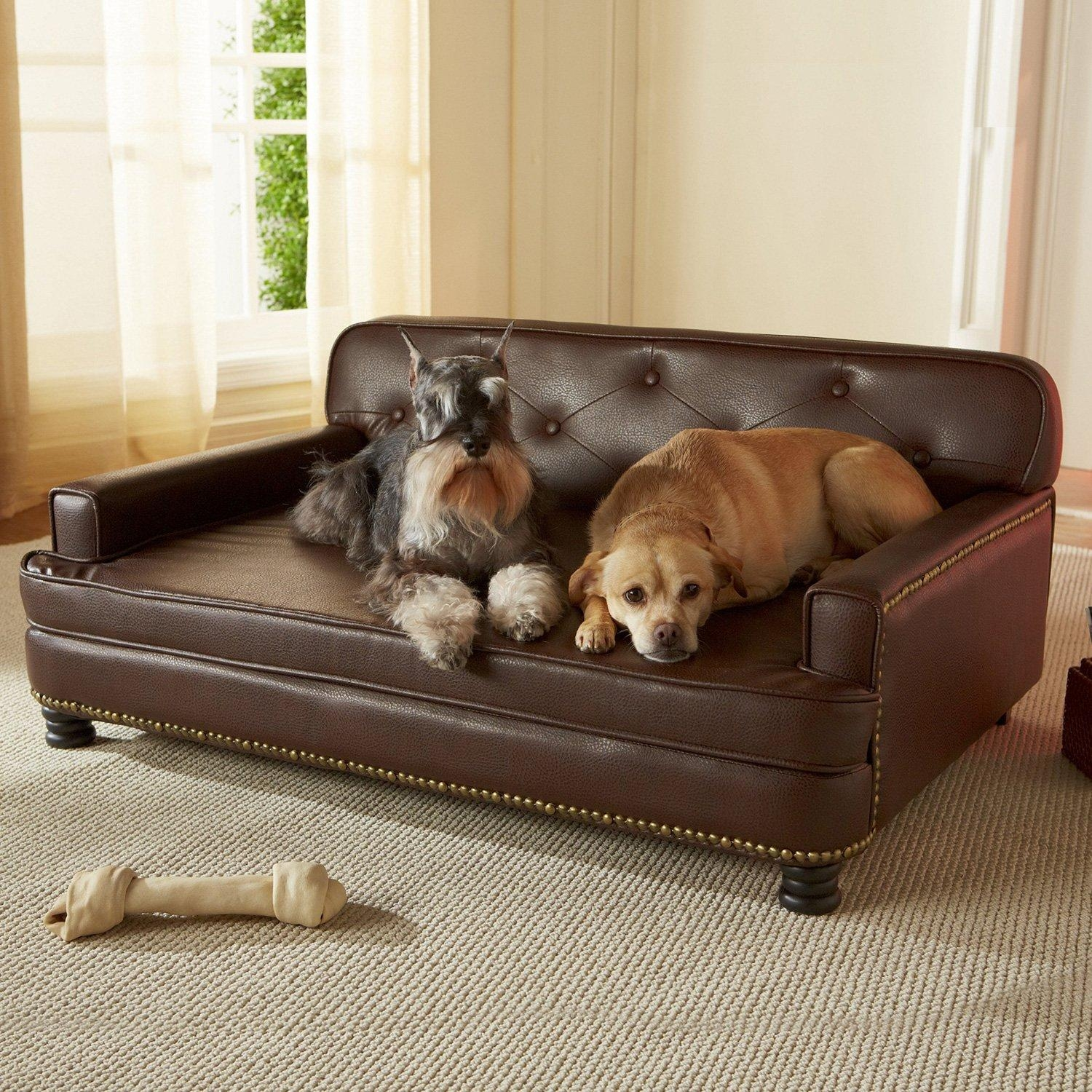 Sofas Center : 45301012 Furhaven Quilted Sofa Bed Md Wine Red Main With Snoozer Luxury Dog Sofas (Image 15 of 20)