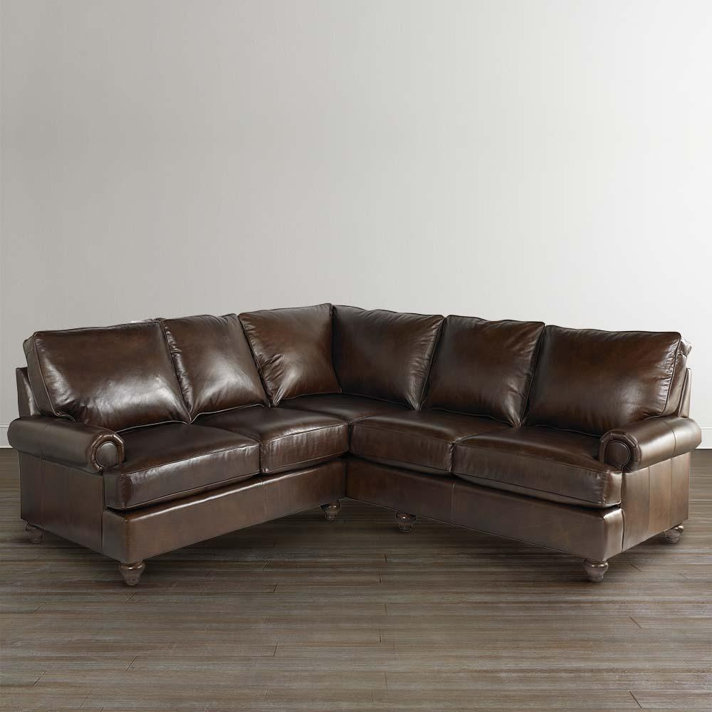 Featured Image of Small Scale Leather Sectional Sofas