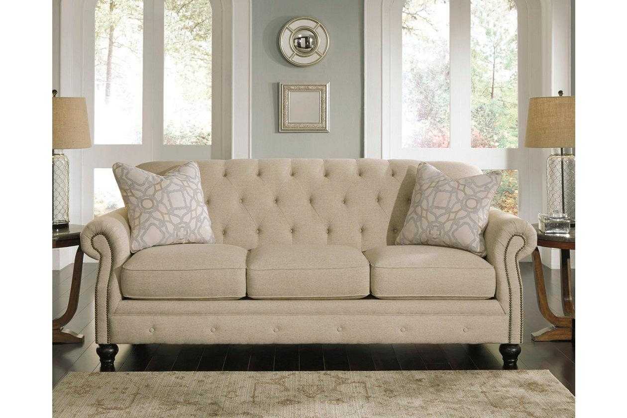 Sofas Center : Accent Chairs Coucheshley Furniture Tufted Sofa Intended For Ashley Tufted Sofa (Image 16 of 20)