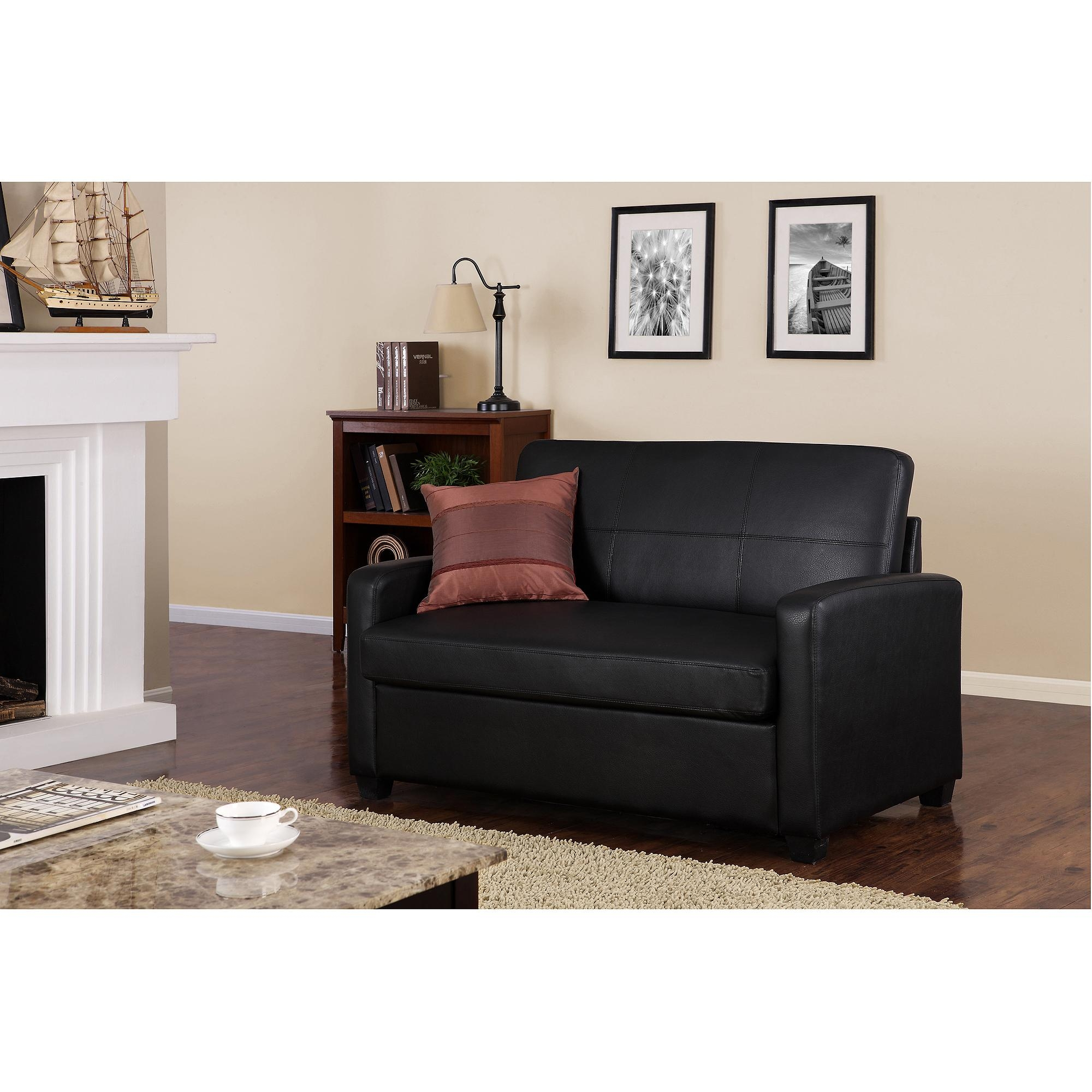 Sofas Center : Akali Sectional Sleeper Sofa Tufted Chaise Lounge Pertaining To Faux Leather Sleeper Sofas (Image 12 of 20)