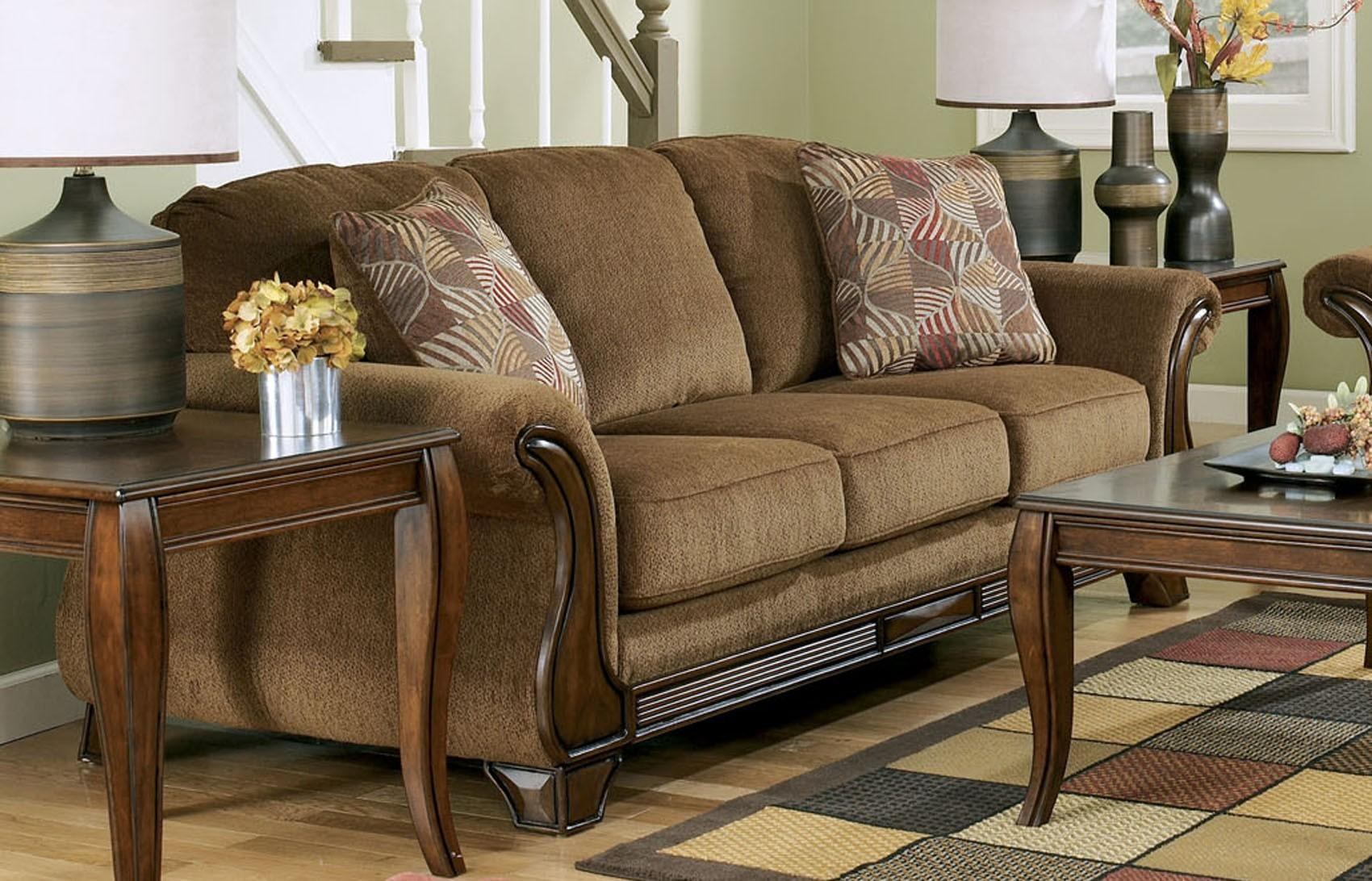 Sofas Center : Ashley Furniture Recliner Sofas Microfibert Inside Ashley Furniture Brown Corduroy Sectional Sofas (View 20 of 20)
