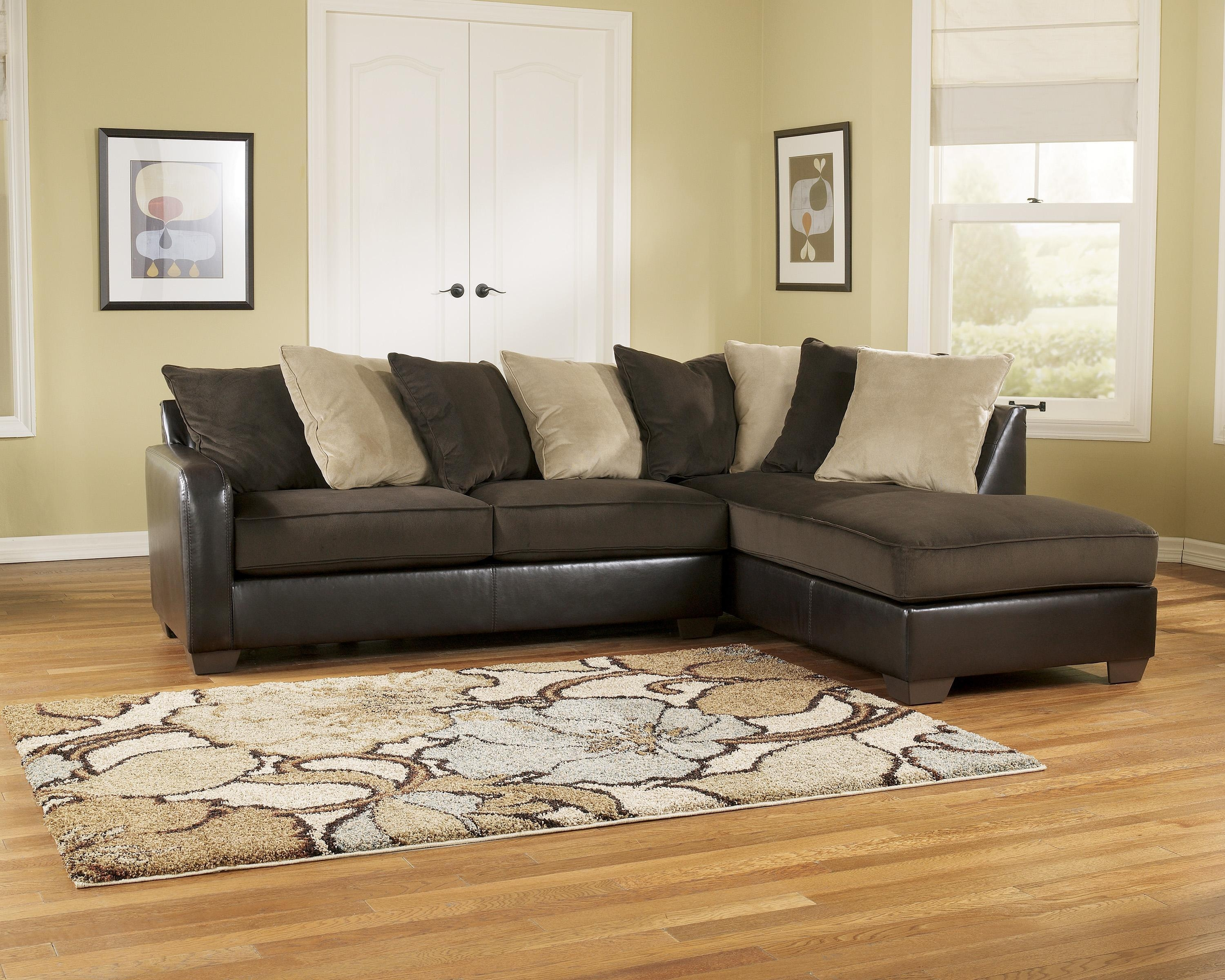 Corduroy sectional sofa chocolate corduroy reversible for Brown corduroy couch