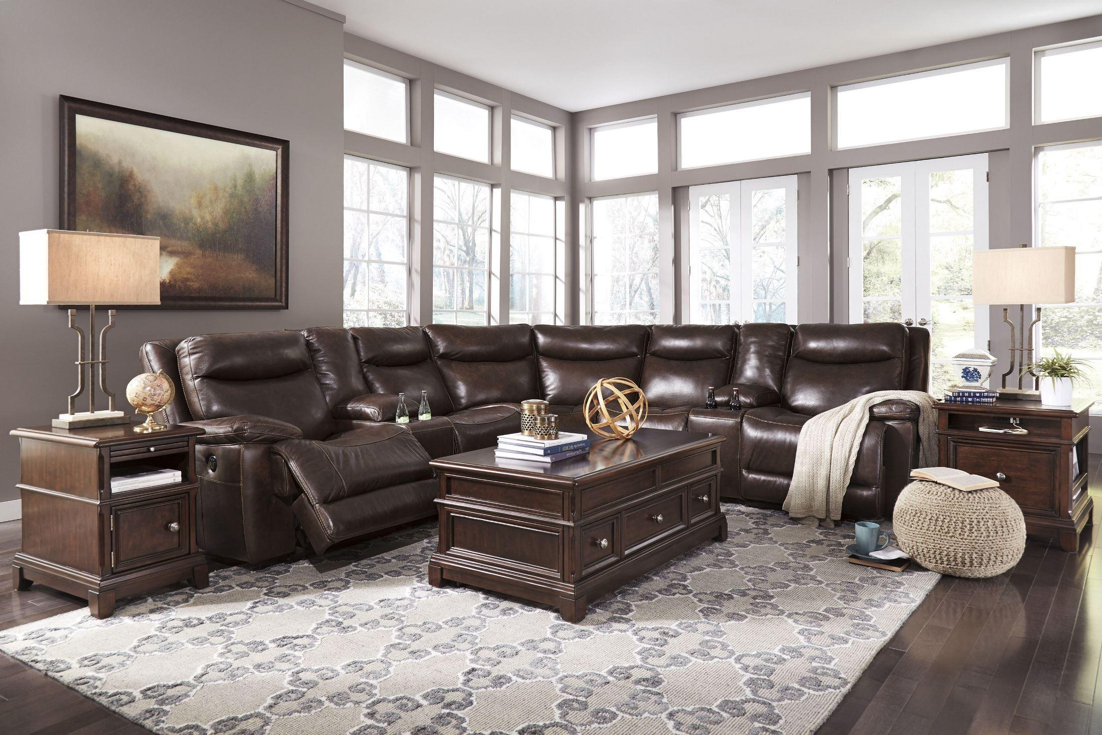 Sofas Center : Ashley Furniture Sectionals Victory Sectional Inside Ashley Furniture Leather Sectional Sofas (Image 18 of 20)