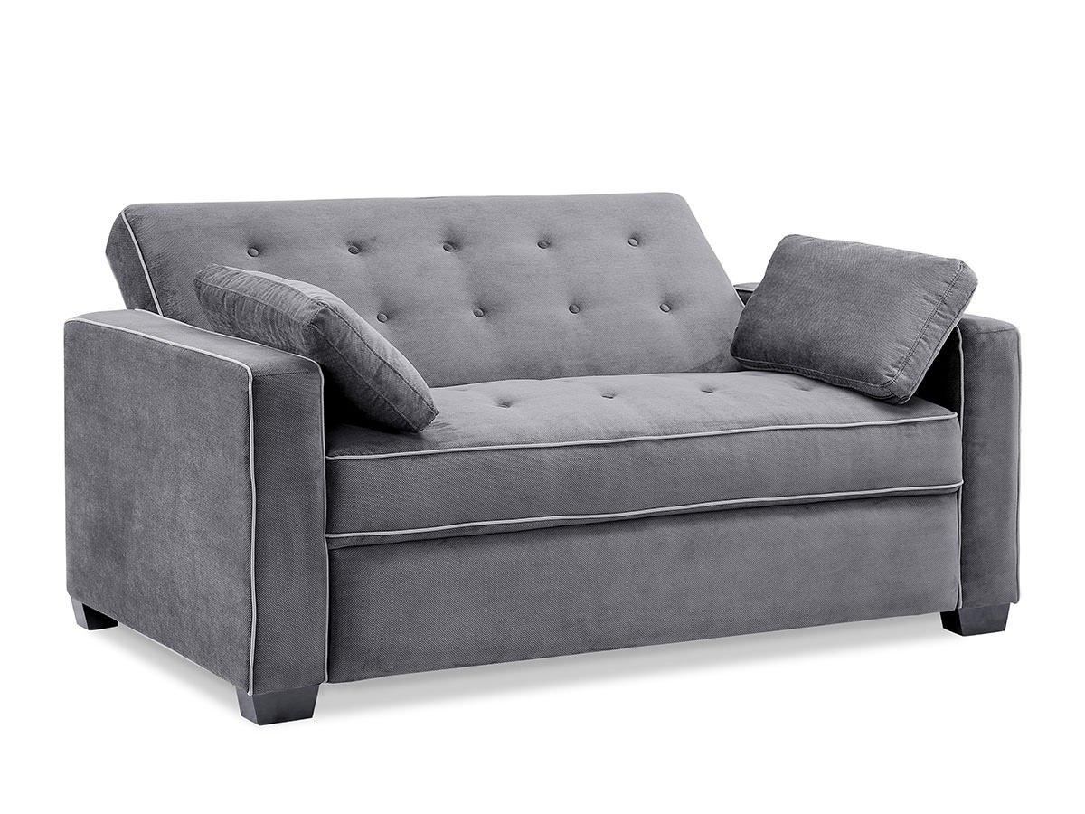 Sofas Center : Augustine Loveseat Sleeper Moon Greyserta Regarding Unusual Sofa (View 2 of 20)
