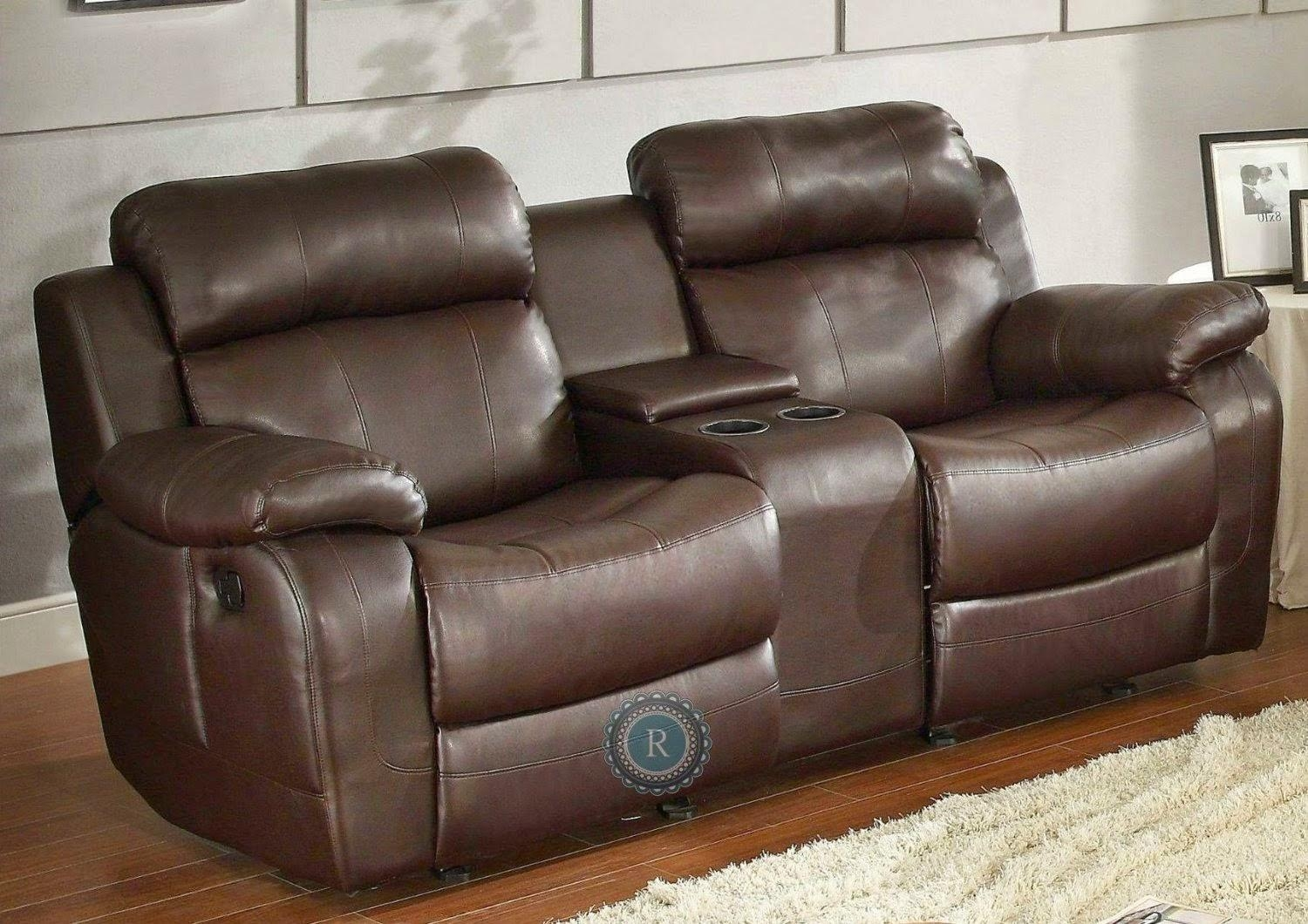 Sofas Center : Beautifulclining Sofa With Center Console Gallery With Sofas With Console (Image 10 of 20)