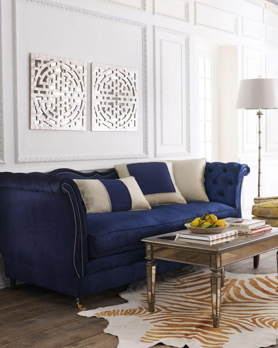 Sofas Center : Best Blue Velvetfas Blog Roger Chris 239 Blue Inside Blue Velvet Tufted Sofas (Image 17 of 20)