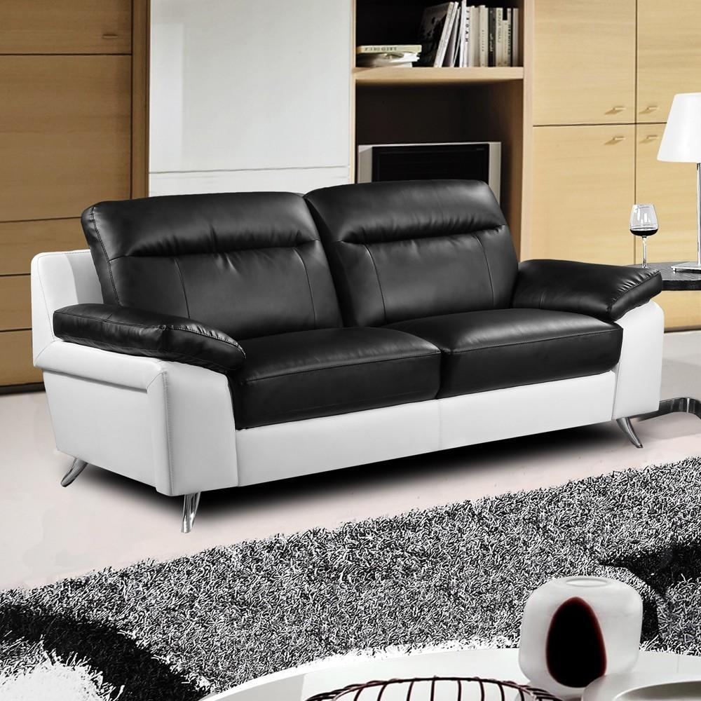 Sofas Center : Black And White Leather Sofa Modern Dreaded Photos With Black And White Leather Sofas (View 2 of 20)