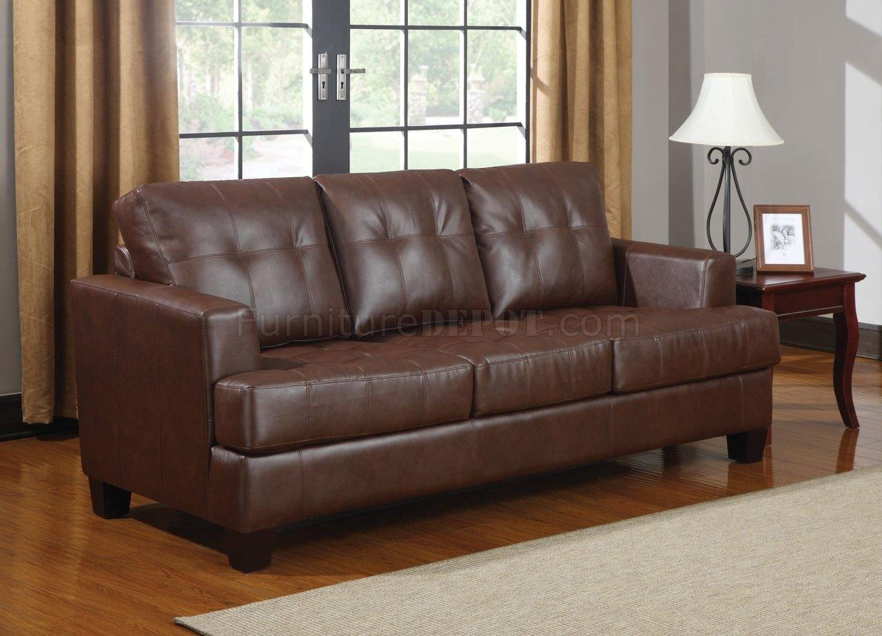 Sofas Center : Bonded Leather Sofa Mckenna Reviews Brown White Within Bonded Leather Sofas (Image 18 of 20)