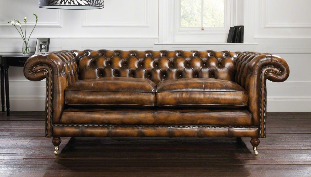 Sofas Center : Brown Leather Chesterfield Sofas Vintage Sofaused In Leather Chesterfield Sofas (Image 16 of 20)