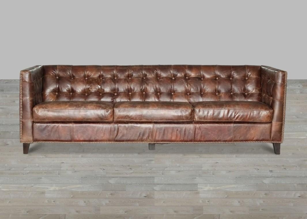 Sofas Center : Brown Leather Sleeper Sofa With Nailheads Gray Intended For Brown Leather Sofas With Nailhead Trim (Image 15 of 20)