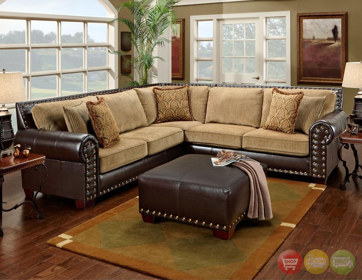 Sofas Center : Brown Leather Sofa With Nailhead Trim Reclining Set Intended For Brown Leather Sofas With Nailhead Trim (Image 16 of 20)