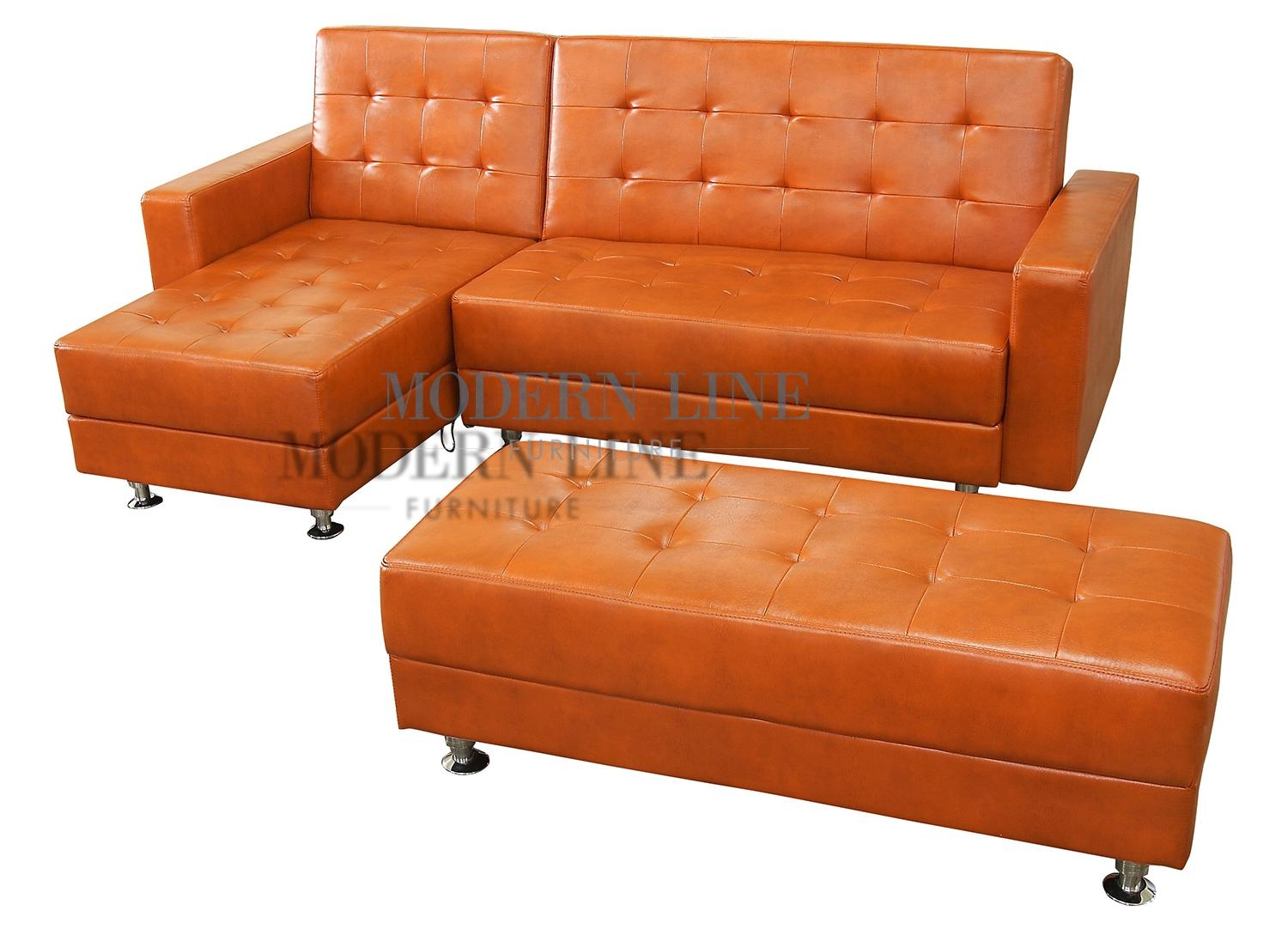 Sofas Center : Burnt Orange Leather Sofa Sleeper Contemporary And For Burnt Orange Leather Sofas (Image 12 of 20)