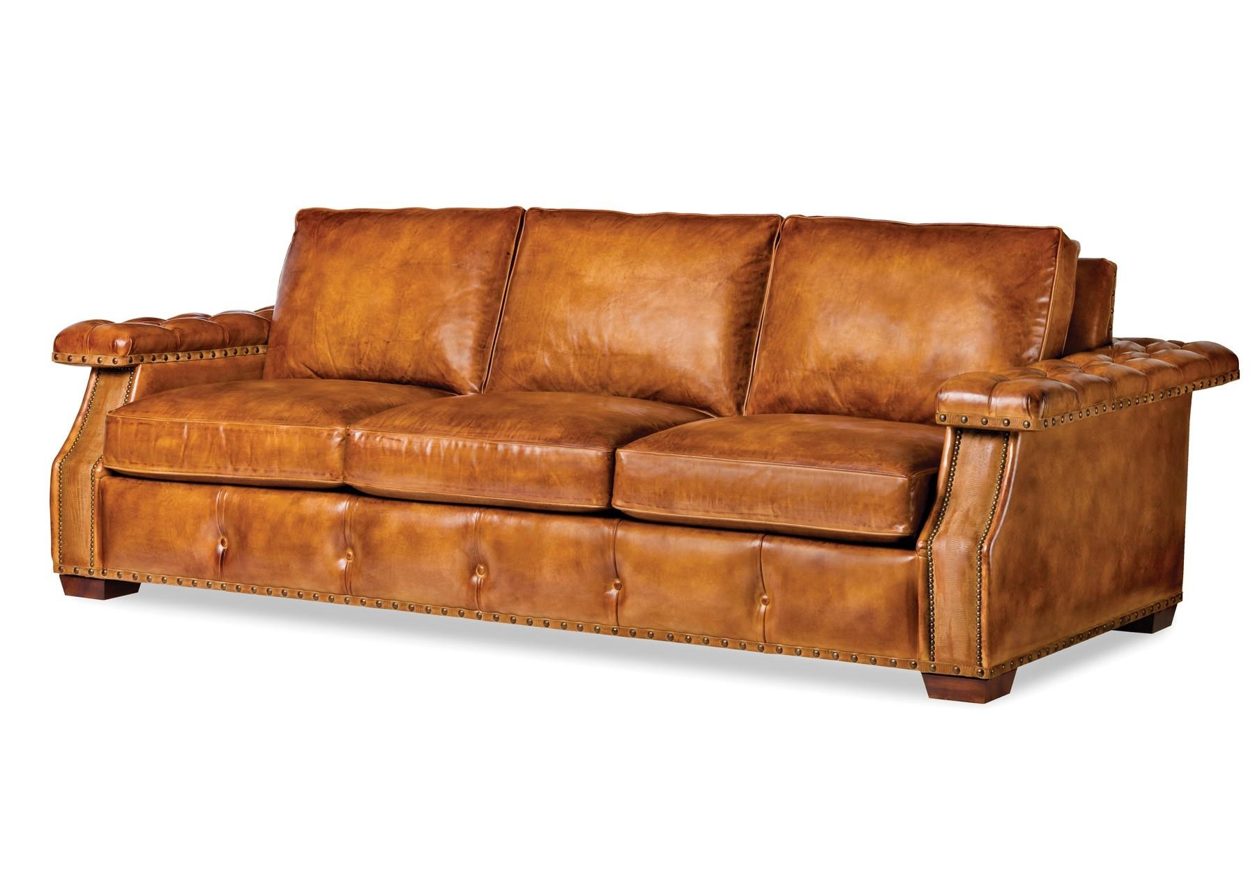 Featured Photo of Camel Colored Leather Sofas