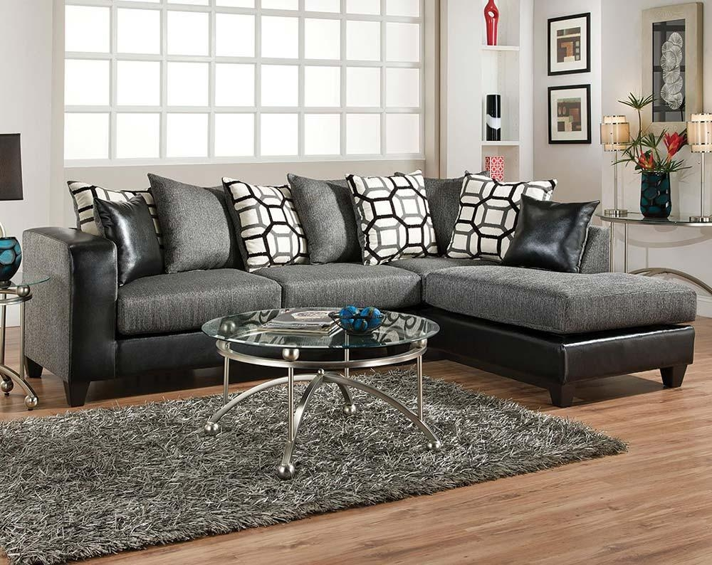Sofas Center : Charcoal Grey Leather Sectional Sofa Sofacharcoal Regarding Chenille  Sectional Sofas (Image 18