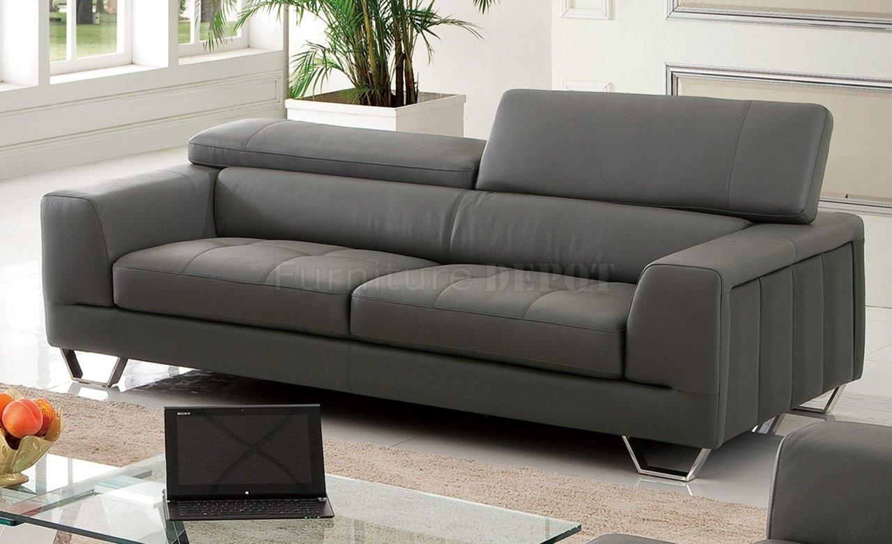 Sofas Center : Charcoal Grey Sofa Slipcover With Nailhead Trim Within Charcoal Grey Leather Sofas (View 5 of 20)