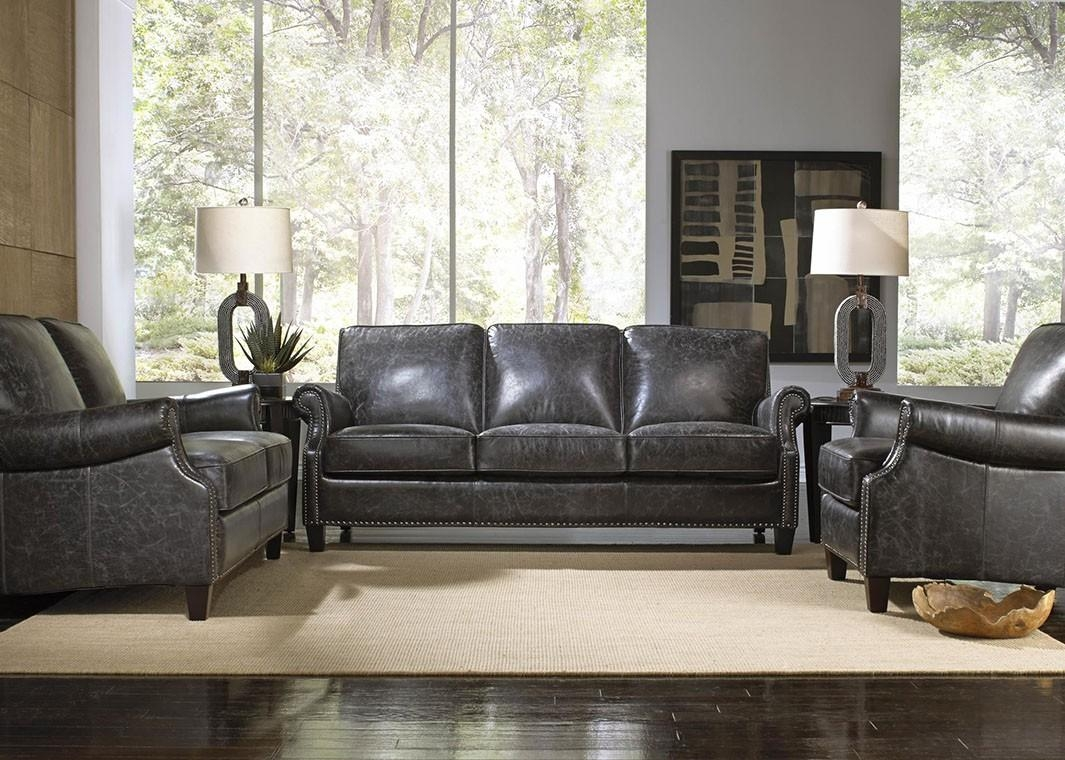 Sofas Center : Charcoal Leather Sofa Grey Sectional Sofacharcoal Pertaining To Charcoal Grey Leather Sofas (View 9 of 20)