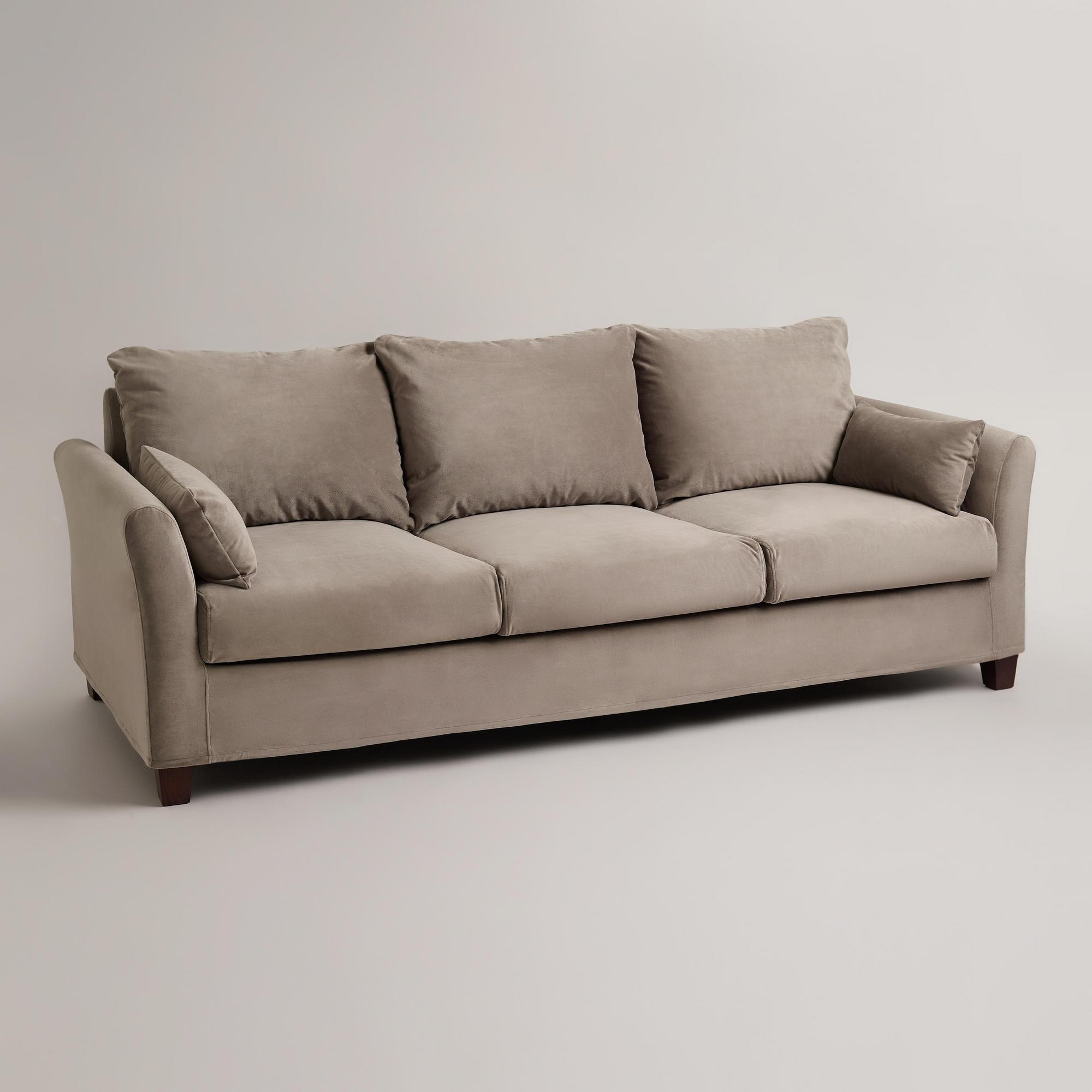 Sofas Center : Charcoal Luxe Sofa Slipcover World Market Seat With Luxe Sofas (Image 14 of 20)