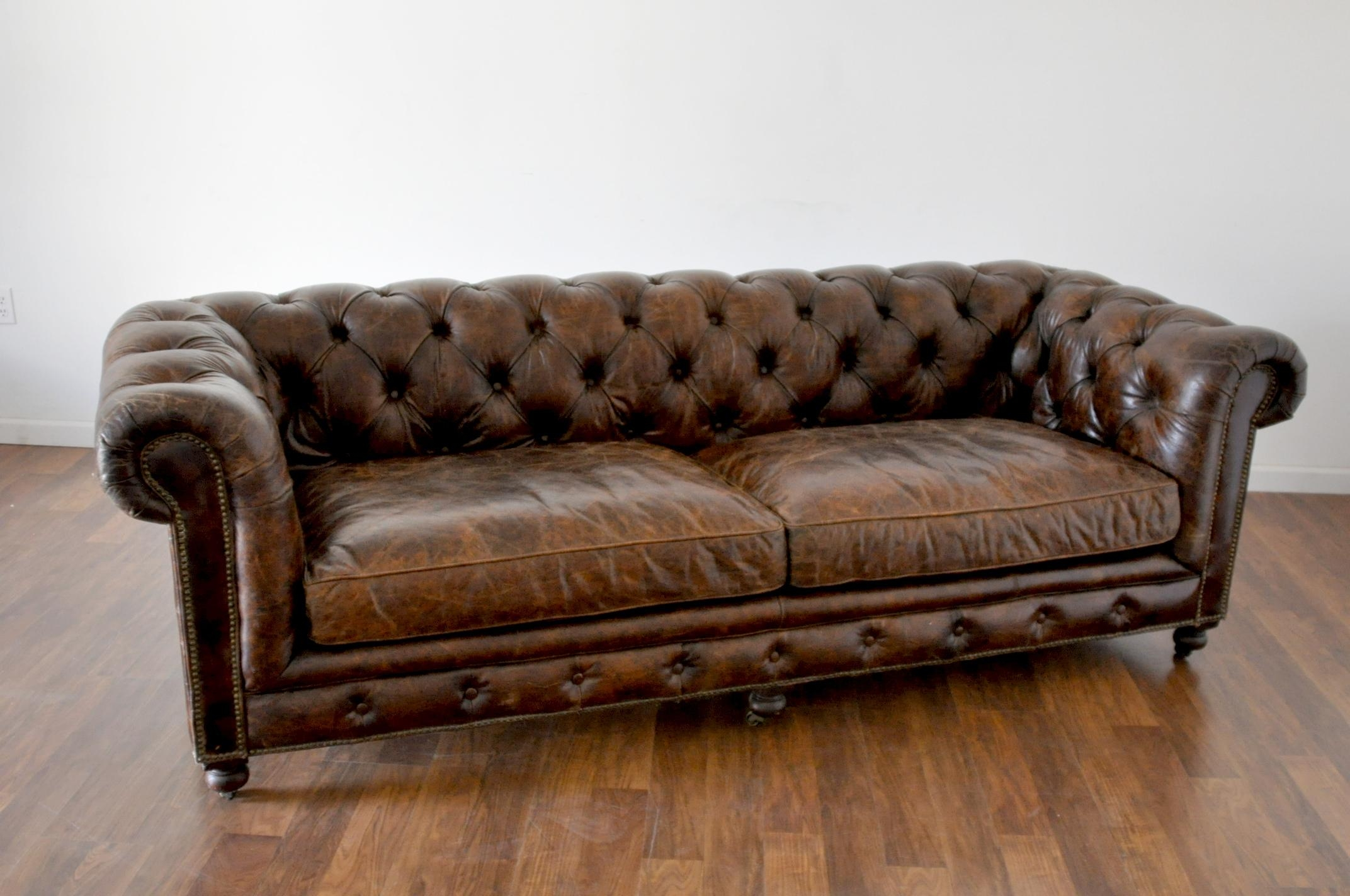 Sofas Center : Clifton Leather Tufted Sofa Set Dillardstufted Regarding Brown Tufted Sofas (Image 14 of 20)