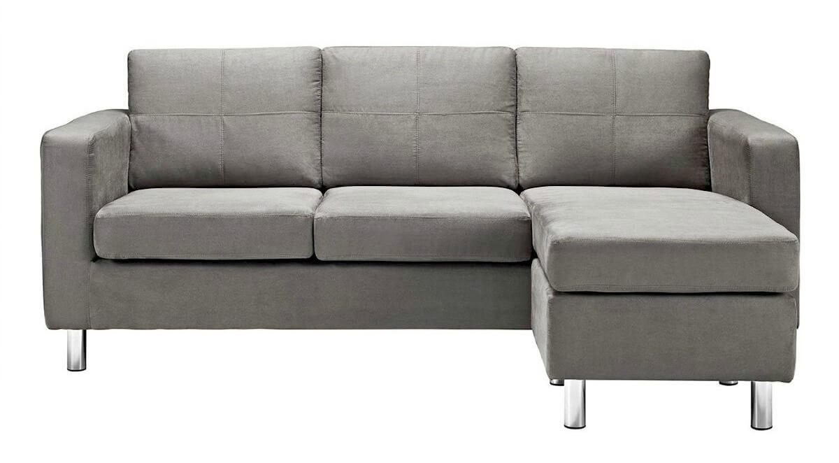 Sofas Center : Contemporary Gray Sectional Sofa Menzilperde Net Throughout Small Grey Sofas (Image 15 of 20)