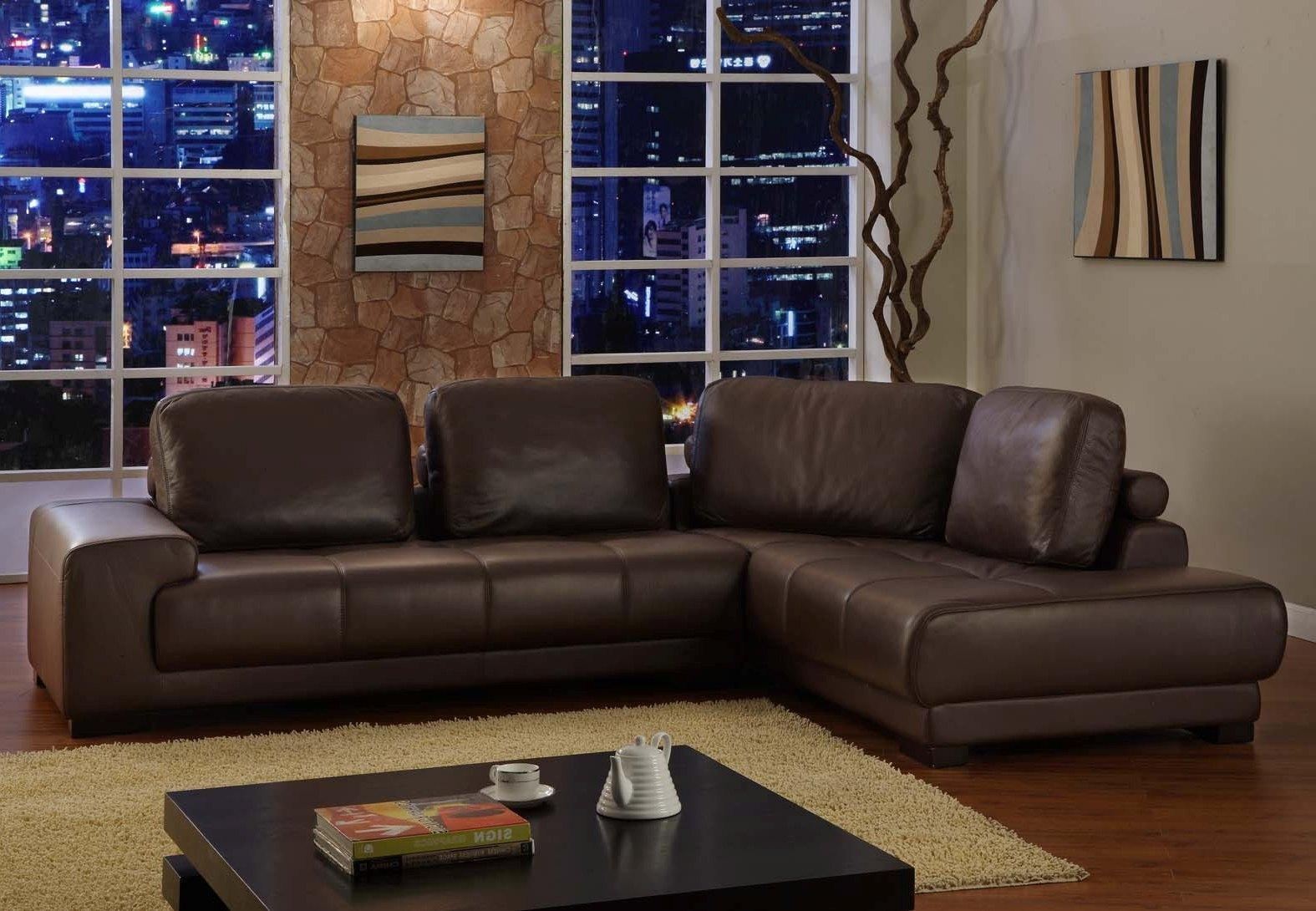 Sofas Center : Contemporary Sectional Sofas On Clearance With Regard To Contemporary Brown Leather Sofas (View 8 of 20)