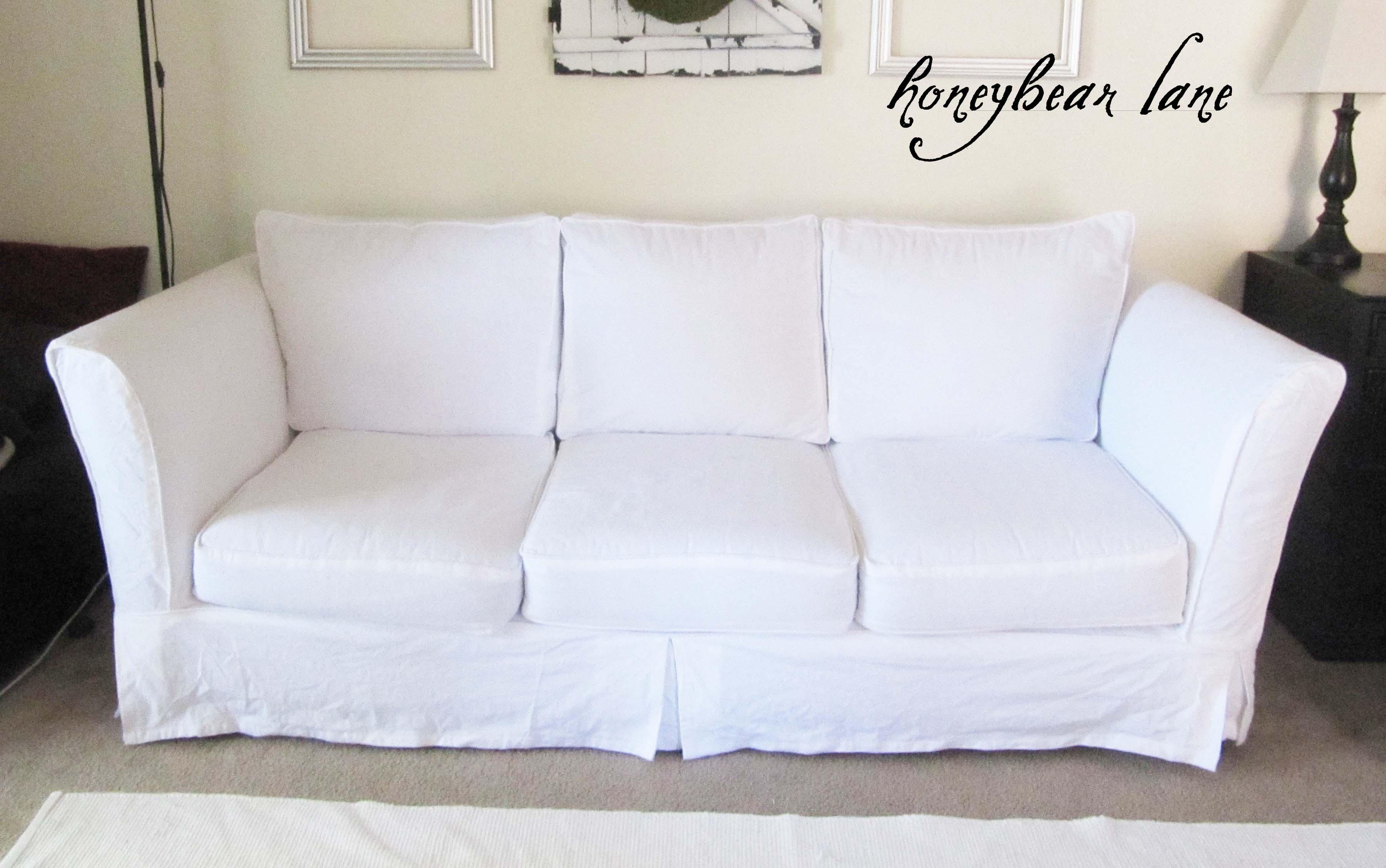 Sofas Center : Cotton Canvas Sofa Slipcovers White Twill T Cushion In Canvas Sofas Covers (View 3 of 20)