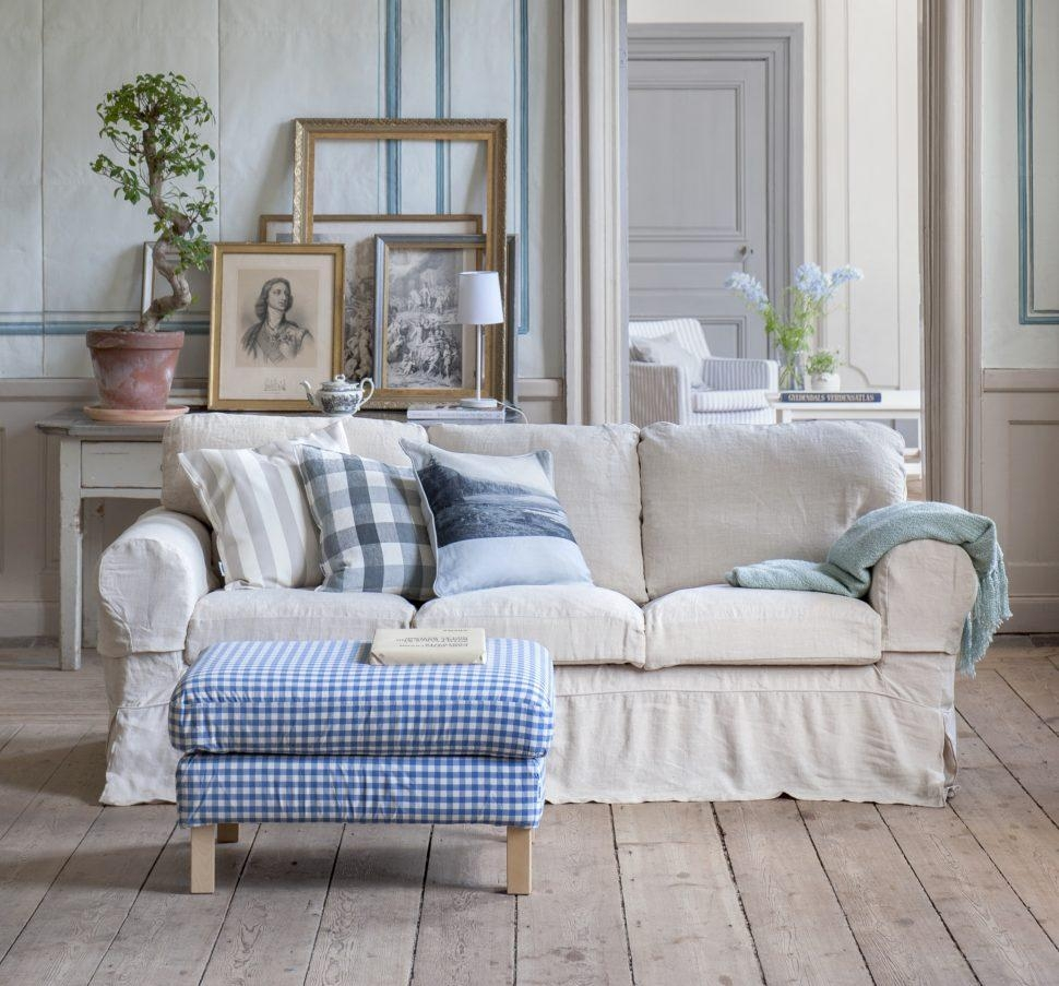 Sofas Center : Country Style Sofas In Floral Print And Loveseats Inside Blue Plaid Sofas (View 9 of 20)