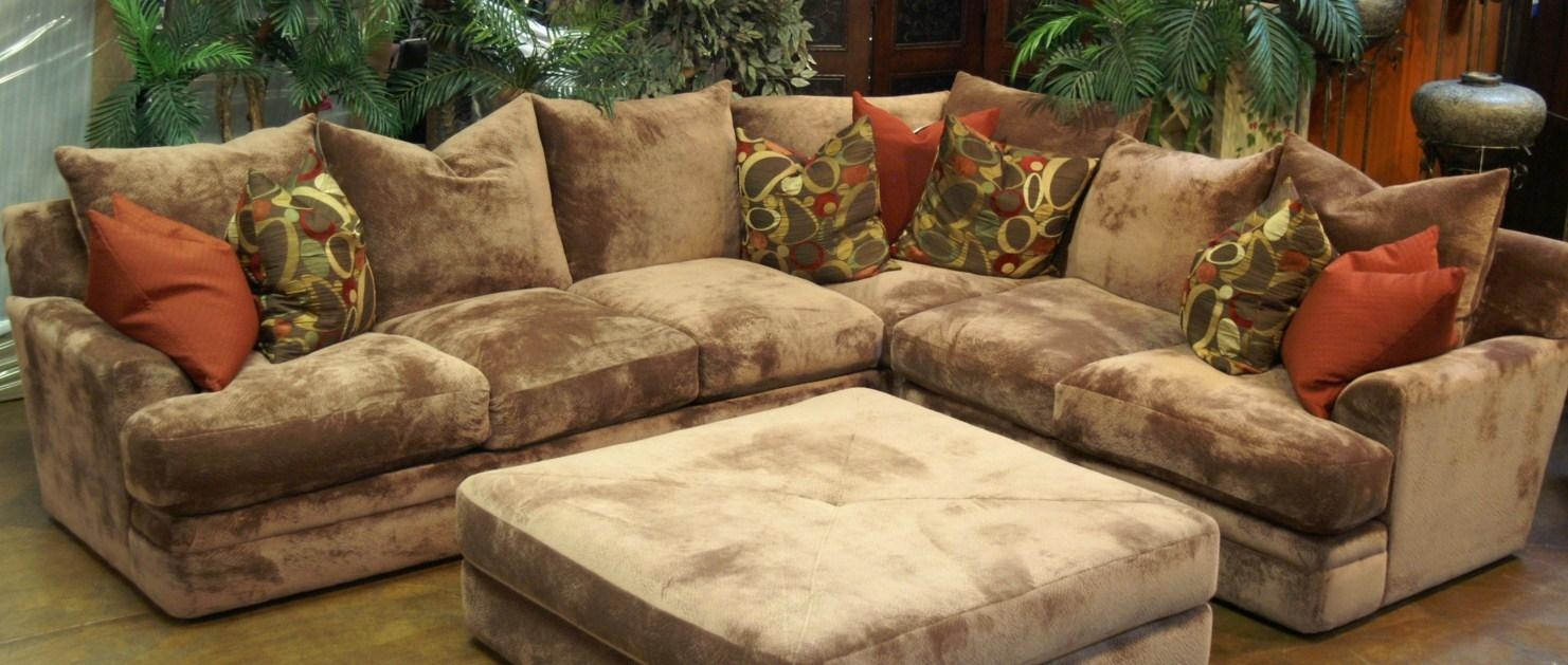 Sofas Center : Cozy Sectional Sofa With Chaise And Ottoman About Throughout Down Feather Sectional Sofa (Image 10 of 15)