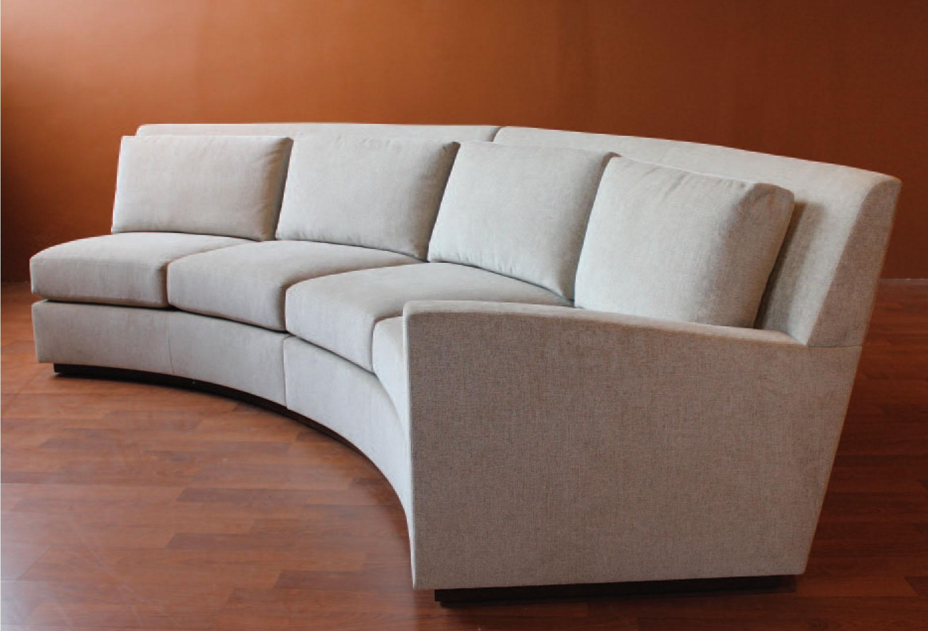 2017 Latest Small Curved Sectional Sofas