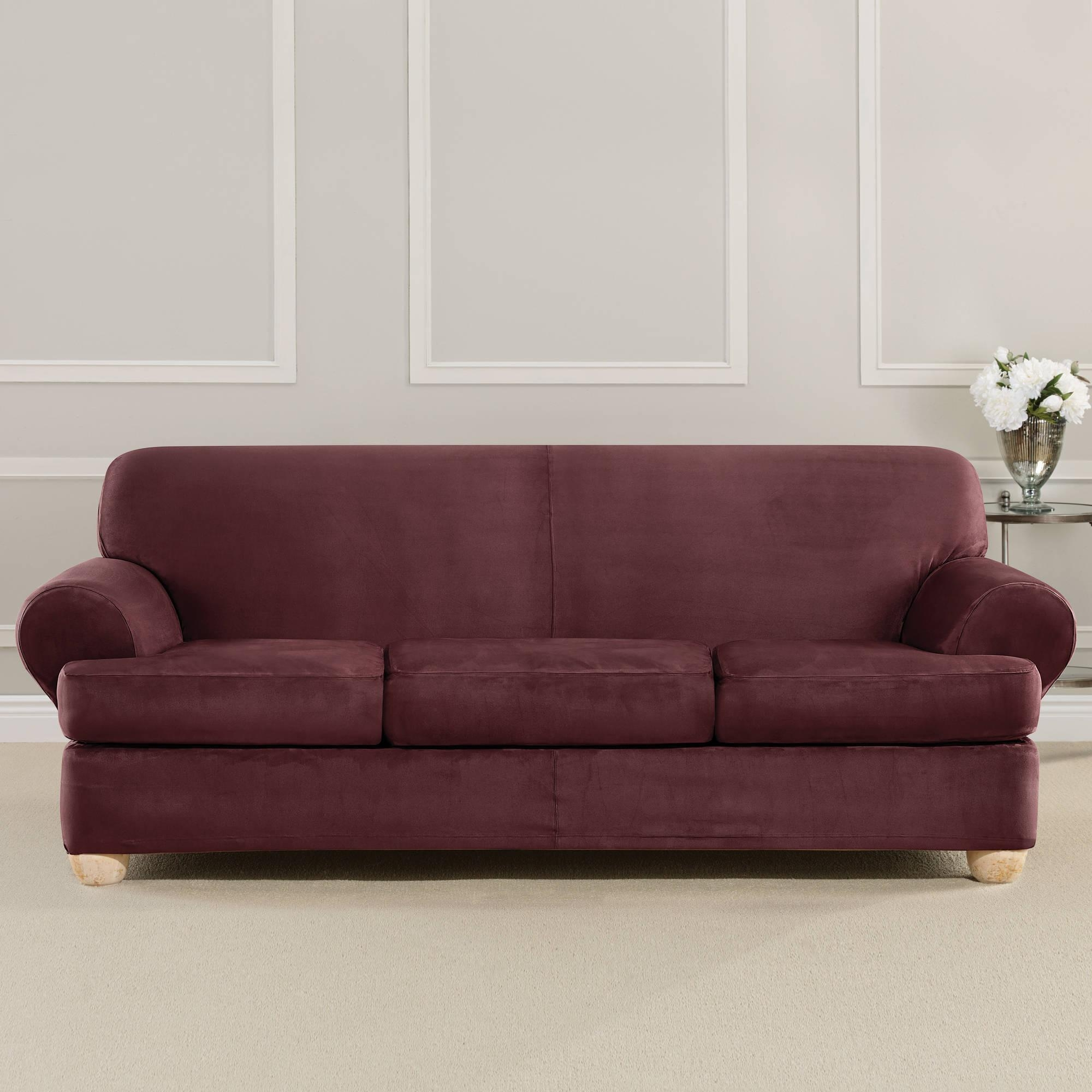Sofas Center : Cushion Sofa Slipcovers T Style Camel Back Pertaining To Slipcovers For 3 Cushion Sofas (Image 16 of 20)