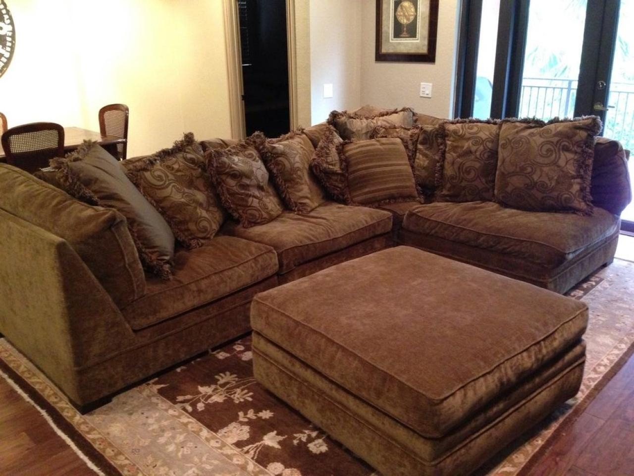 Sofas Center : Depiction Of U Shaped Sectional With Chaise Design In Down Filled Sectional Sofa (Image 11 of 15)