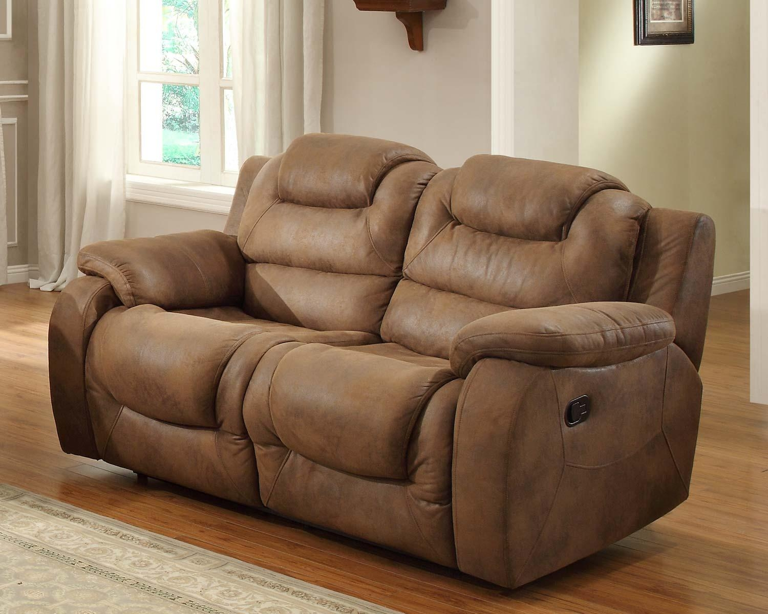 Sofas Center : Double Recliner Sofa Hoyt Reclining In Brown Bomber Inside Bomber Leather Sofas (View 20 of 20)