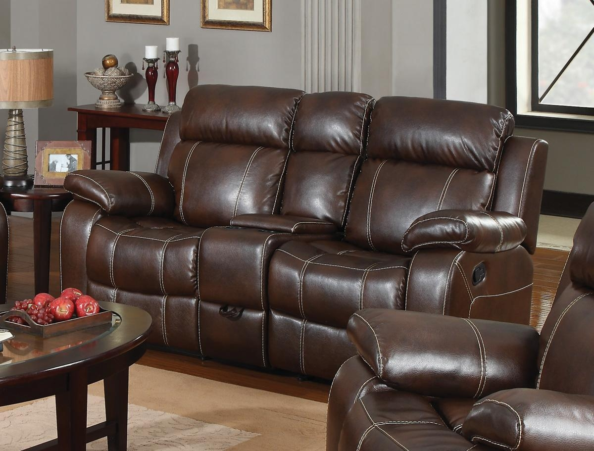 Sofas Center : Double Recliner Sofa Withnsole New Sofas Anduches Regarding Sofas With Console (Image 11 of 20)