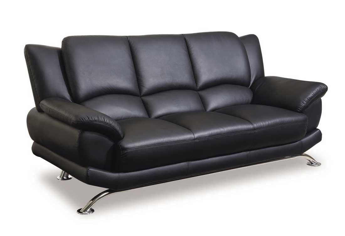 Sofas Center : Emejing Black Leather Couch Set Contemporary Throughout Contemporary Black Leather Sofas (Image 17 of 20)