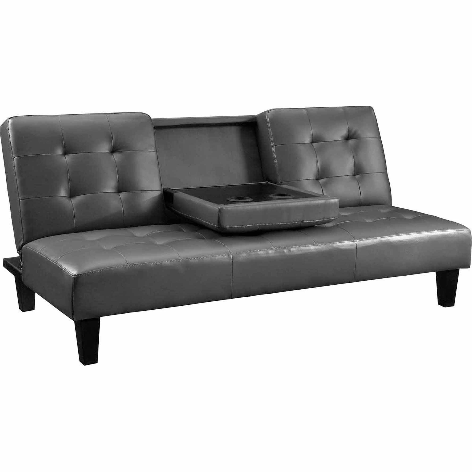 Sofas Center : Emily Faux Leather Convertiblen Sofa Bedleather Intended For Faux Leather Futon Sofas (Image 17 of 20)