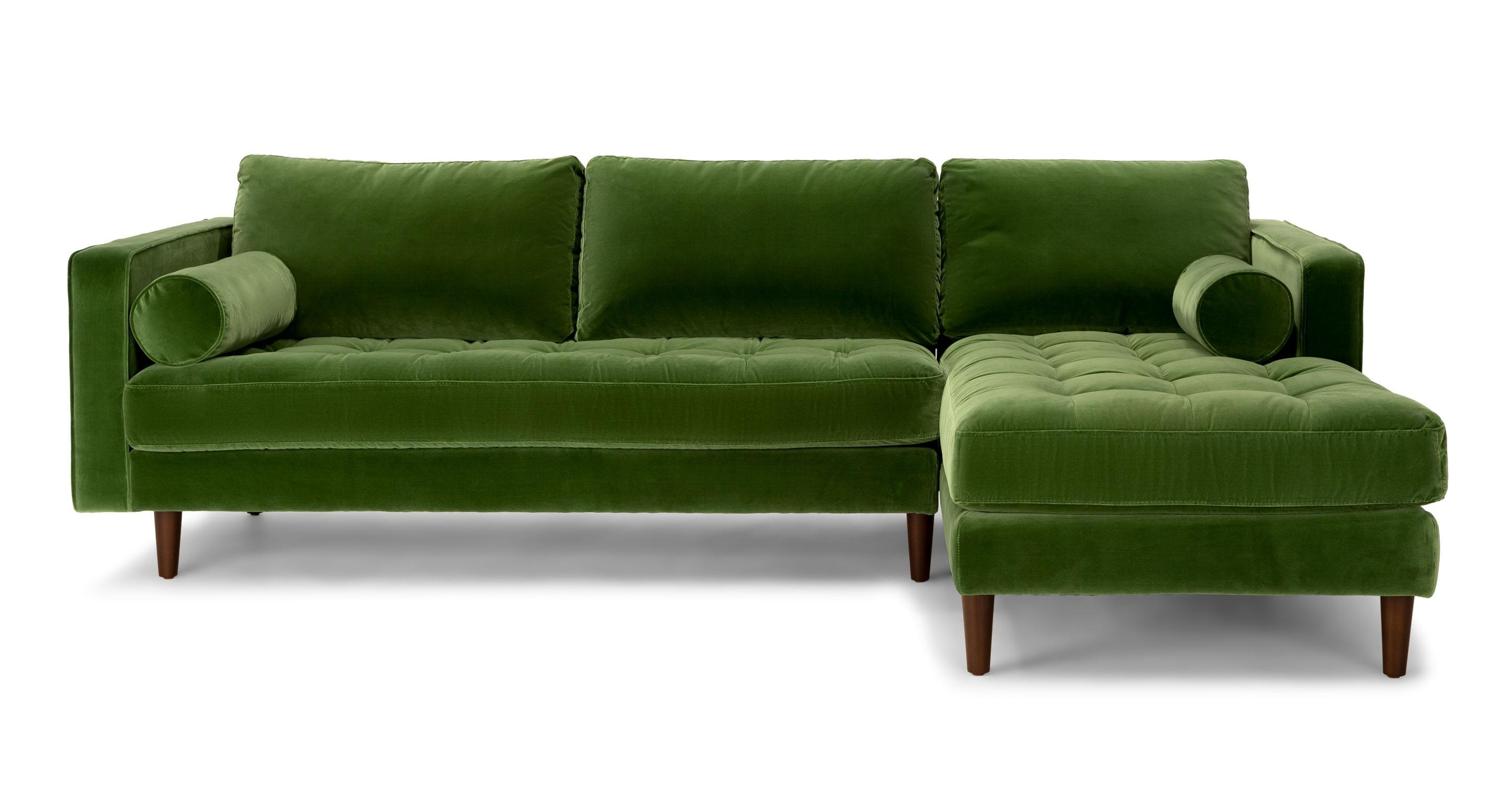 Sofas Center : Excellent Greenectionalofa Photos Inspirations Best Inside Green Sectional Sofa With Chaise (View 9 of 15)