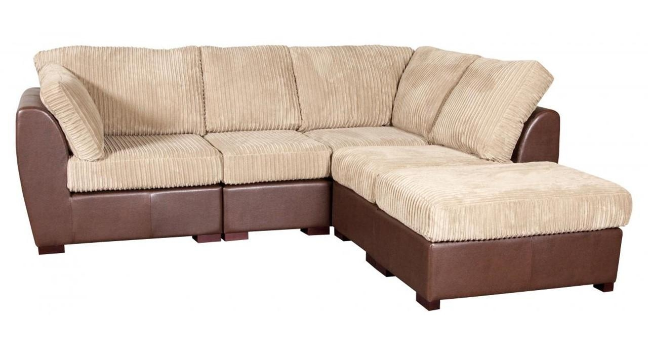 Sofas Center : Fabric And Leather Tufted Sofa Model L Furniture Pertaining To Leather And Cloth Sofa (Image 15 of 20)