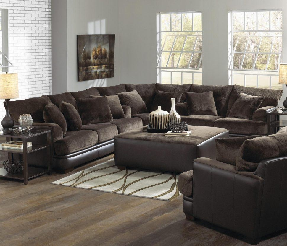Sofas Center : Fantasticnal Sofa With Oversized Ottoman Sofas Regarding Sectional Sofa With Oversized Ottoman (Image 14 of 20)