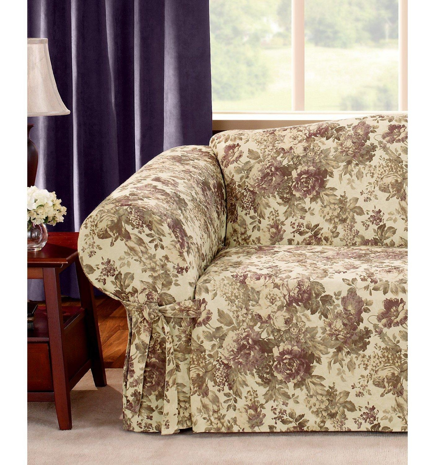 Sofas Center : Fashion Font Floral Sofa Cover Tight Wrap Stretchy Throughout Floral Slipcovers (View 18 of 20)
