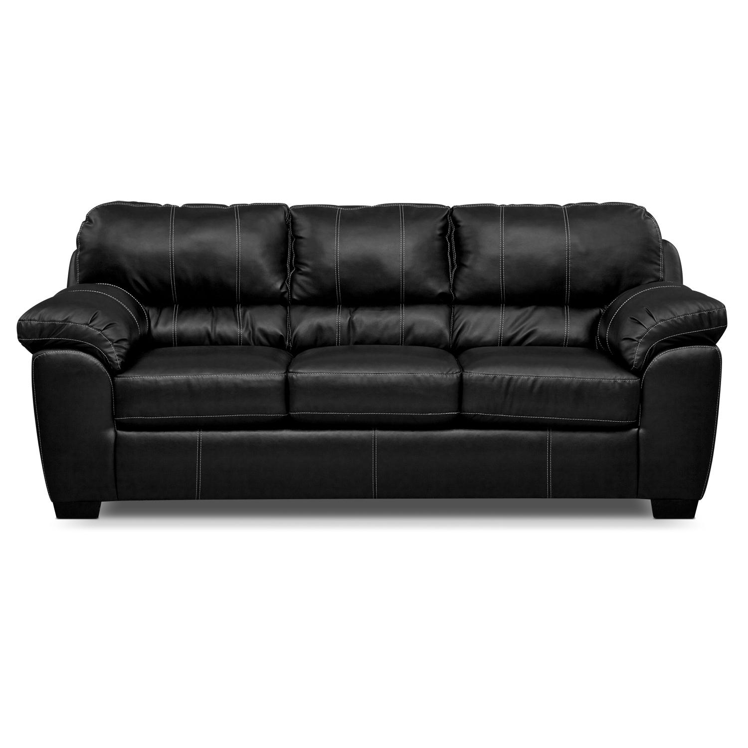 Sofas Center : Faux Leatherleeperofa 87F2517A59Db 1 Mainstays With Faux Leather Sleeper Sofas (Image 18 of 20)