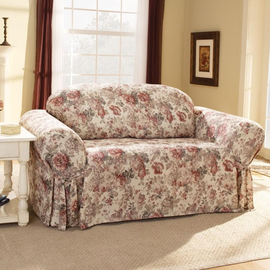 Sofas Center : Floral Sofa Covers Sure Fit Chloe Slipcover Box With Regard To Floral Sofa Slipcovers (View 7 of 20)