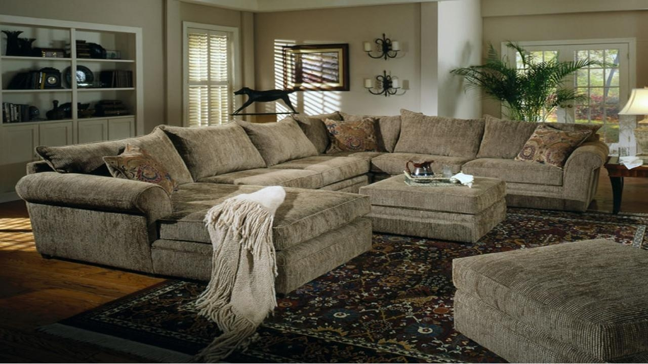 Sofas Center : Furniture Oversized Shape Leather Sectional Sofa With Regard To Oversized Sectional Sofa (Image 13 of 20)