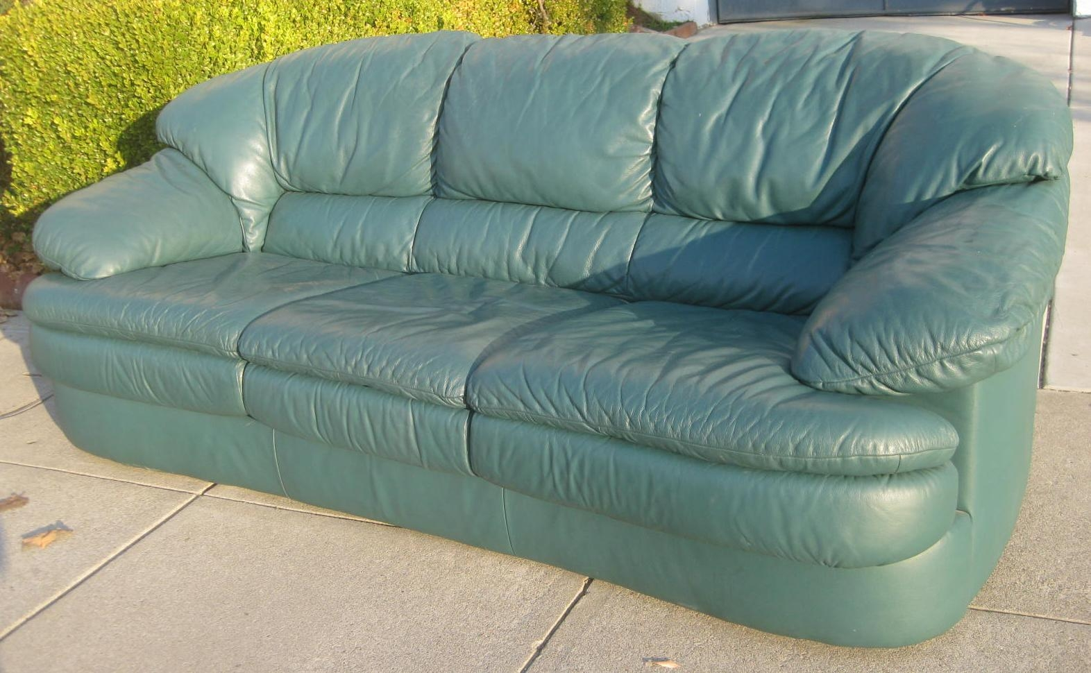 Sofas Center : Green Leather Sofa Set Chesterfield Sofagreen Blue Pertaining To Green Leather Sectional Sofas (Image 18 of 20)